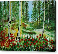 Acrylic Print featuring the painting Bliss by Leslie Allen