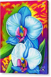 Acrylic Print featuring the painting Bliss by Nancy Cupp
