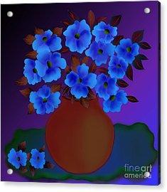 Acrylic Print featuring the digital art Blissful by Latha Gokuldas Panicker