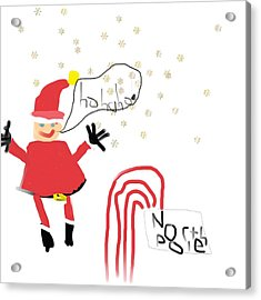Blizzard In The North Pole Acrylic Print by My seven year old