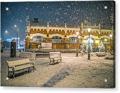 Acrylic Print featuring the photograph Blizzard by Jaroslaw Grudzinski