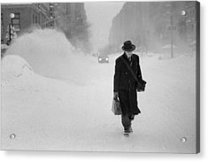 Blizzard On Park Avenue Acrylic Print