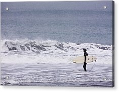 Blizzard Surfing Acrylic Print by Tim Grams