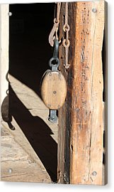 Block And Tackle 1 Acrylic Print by Mary Bedy