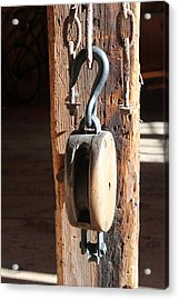 Block And Tackle 3 Acrylic Print by Mary Bedy