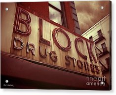 Block Drug Store - New York Acrylic Print