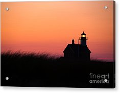 Block Island North Lighthouse Acrylic Print by Diane Diederich