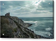 Block Island South East Lighthouse Acrylic Print by Skip Willits