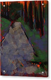 Bloedel Road Acrylic Print by Mary McInnis