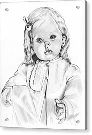 Blonde Doll Acrylic Print by Barb Baker