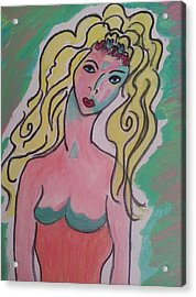 Blonde Lady Acrylic Print