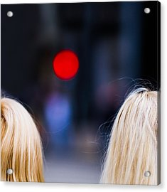 Blondes Are Not Allowed 2 - Featured 3 Acrylic Print by Alexander Senin