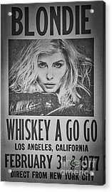 Blondie At The Whiskey A Go Go Acrylic Print