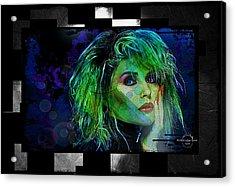 Blondie - Debbie Harry Acrylic Print by Absinthe Art By Michelle LeAnn Scott