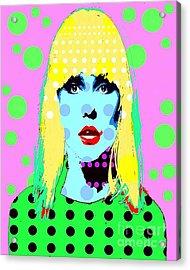 Blondie Acrylic Print by Ricky Sencion