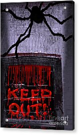 Blood And Spider Acrylic Print by Charline Xia