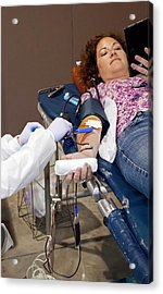 Blood Donation Clinic Acrylic Print