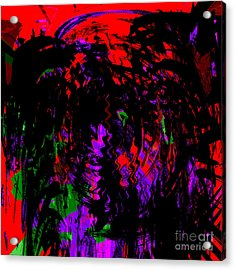 Blood From Under Your Nails Acrylic Print by Ashantaey Sunny-Fay