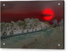 Blood Moon And Speed Acrylic Print by Nina Fosdick
