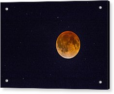 Blood Moon And Stars Acrylic Print
