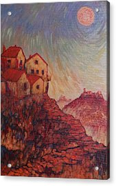 Acrylic Print featuring the painting True Self Verses Ego False Self by Charles Munn