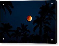 Blood Moon In The Tropics Acrylic Print