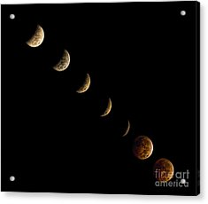 Blood Moon Acrylic Print by James Dean