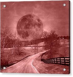 Blood Moon One Of Two Acrylic Print by Betsy Knapp