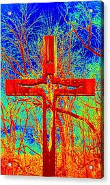 Acrylic Print featuring the photograph Blood On The Cross by Cathy Shiflett
