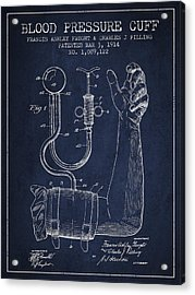 Blood Pressure Cuff Patent From 1914 Acrylic Print by Aged Pixel