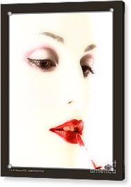 Blood Red Lipstick Acrylic Print by Pedro L Gili