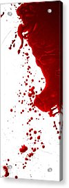 Blood Splatter  Acrylic Print by Holly Anderson