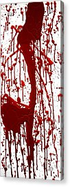 Blood Splatter II Acrylic Print by Holly Anderson
