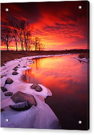 Blood Sunset Acrylic Print