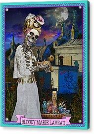 Bloody Marie Laveau Acrylic Print by Tammy Wetzel