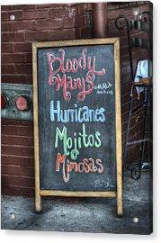 Bloody Marys Acrylic Print by Brenda Bryant