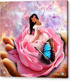 Bloom In The Hand Of The Father Acrylic Print by Dolores Develde