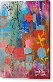 Bloom Where You Are Acrylic Print by Robin Maria Pedrero