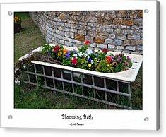 Blooming Bath Acrylic Print