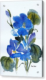 Acrylic Print featuring the painting Blooming Blue by Anne Duke