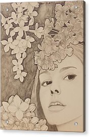Blooming Girl Lilac  Refined Acrylic Print