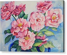 Blooming Grace Acrylic Print by Shirin Shahram Badie