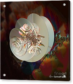 Blooming Spiral Acrylic Print by Leona Arsenault
