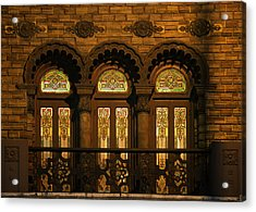 Bloomingdale's At Home In Chicago's Medinah Temple Acrylic Print by Christine Till