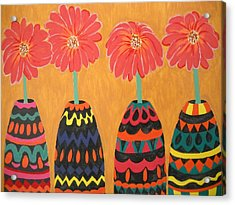 Blooms In Native Dress Acrylic Print