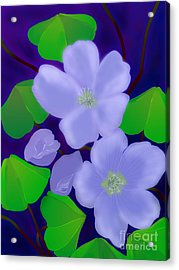 Acrylic Print featuring the digital art Blooms Of Good Luck by Latha Gokuldas Panicker