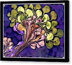 Blossom Of Spring    Purple Acrylic Print by Cathy Peterson