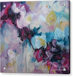 Acrylic Print featuring the painting Blossoming Iv by Elis Cooke