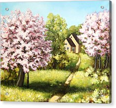 Blossoming Orchard Acrylic Print