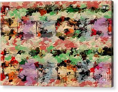 Acrylic Print featuring the digital art Blotched Up Divertimento 1 by Lon Chaffin